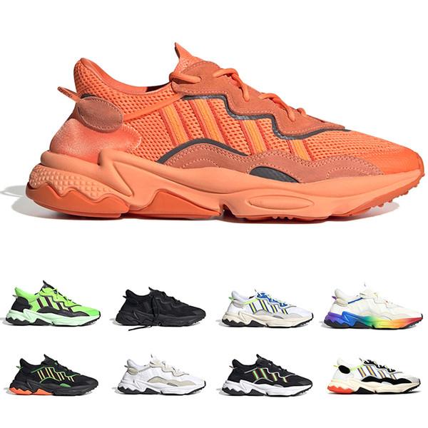 Kalın Turuncu 3M Yansıtıcı Xeno Ozweego İçin Erkekler Kadınlar Günlük Ayakkabılar Neon Yeşili Güneş Sarı Çekirdek Siyah Eğitmen Spor Sneakers Boyut 36-45
