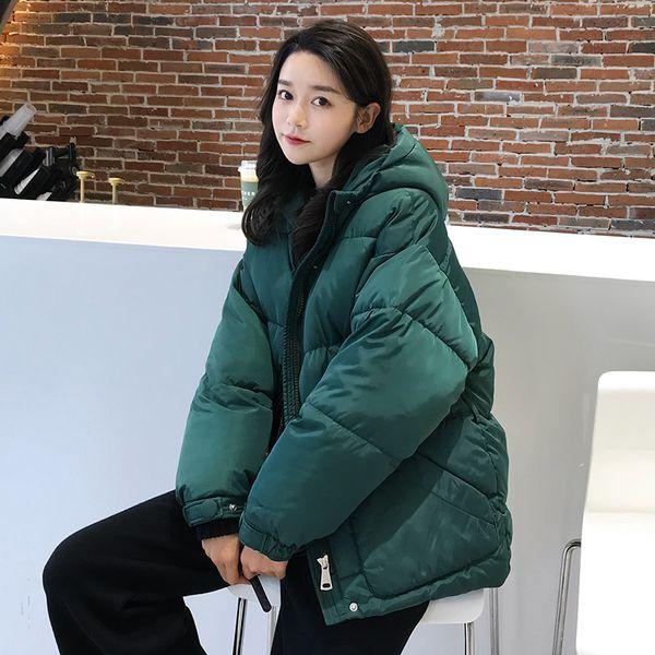 Parka Female Winter Jackets Bread Warm Korean Short Coats Women's With Hooded Red Black Army Green Outerwear For Women Jacket