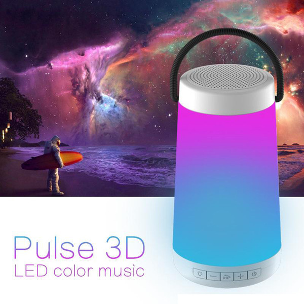 Portable Bluetooth Speaker Touch Control USB LED Bed Baby Night Light Wireless Radio FM TF MP3 Player Music Speakers