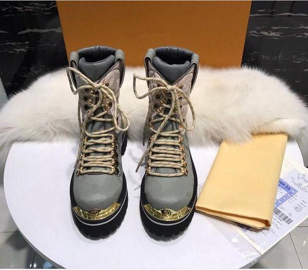 Amantes impermeáveis designer de inverno meia bota homens sapatos casuais top quality moda cravejado de metal amantes da decoração mulheres confortáveis tênis