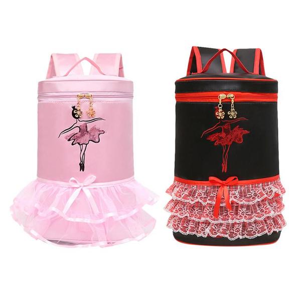 Pink/Wine Red Ballet Dance Bag Girls Dancing Bag For Starting Dance Child Ballerina Kids Shoulder Ballet Backpack Gift