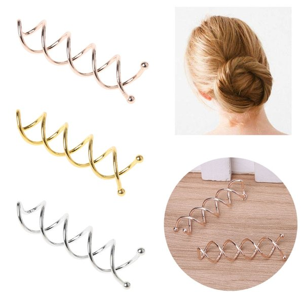 10pcs Women Hair Clip Bobby Pin Hairs Styling Spiral Spin Screw Twist Barrette