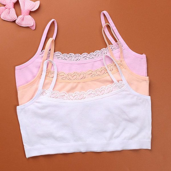 Enfants Sport Soutien-Gorge Push Up Running Soutien-Gorge Tops Full Cup Seamless Training Puberté Yoga Sports Fitness Tops Gym Sport