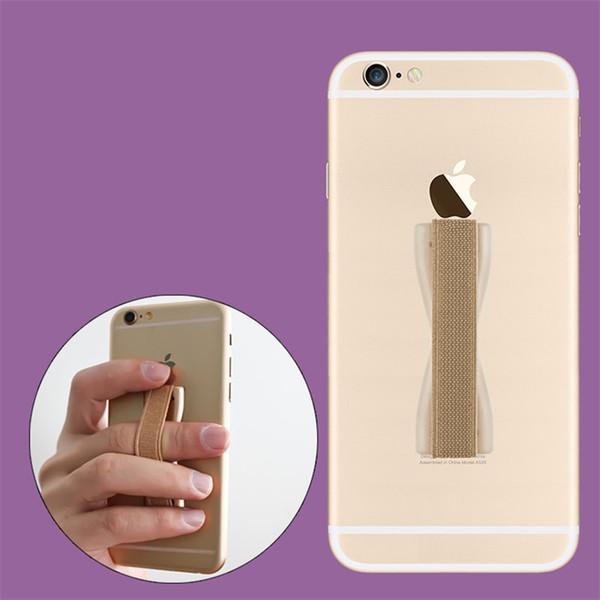 Finger Sling Grip Elastic Band Correa Soporte para teléfono Soporte para teléfonos móviles Tabletas con paquete al por menor
