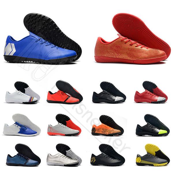 Yeni gelmesi düşük Kapalı erkek futbol ayakkabı Cleats Mercurial Superfly X VI Akademisi Ronaldo CR7 VI 360 Elite FG scarpe da calcio futbol çizmeler