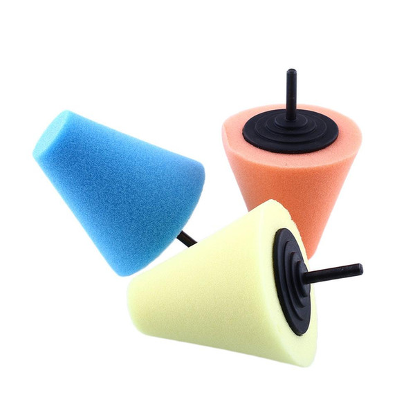 Wholesale- Burnishing Buffing Polishing Cone Sponge Metal Foam Car Wheel Buff Tool Shank