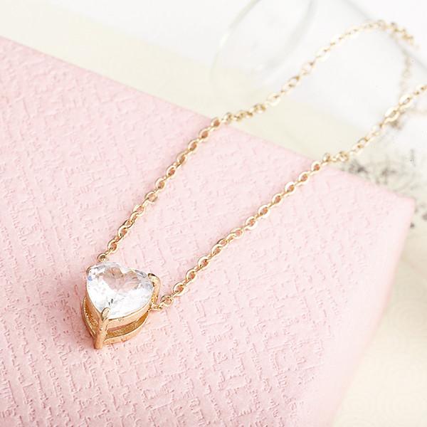 Wholesale Nice Crystal Pendant Neklace For Women Golden Color