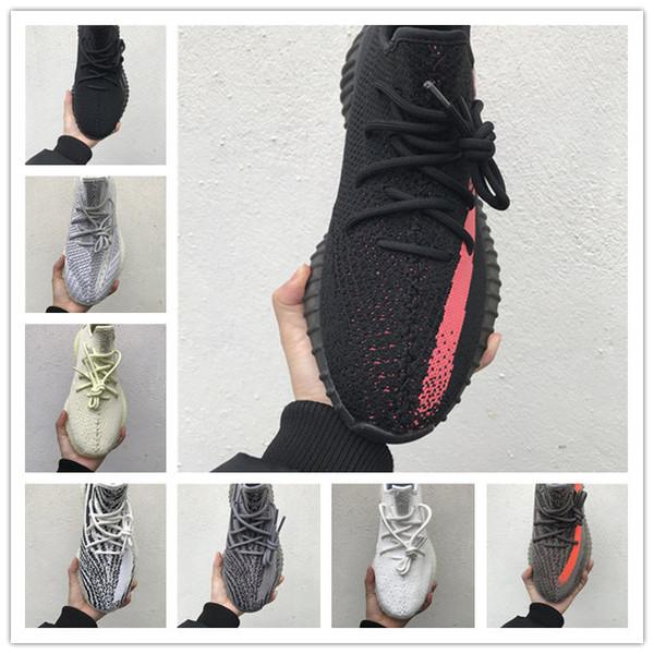 Adidas yeezy boost 350 V2 Discont Hot Günstige Kanye West GID Glow V2 Butter Herren Laufschuhe Hyper Wahre Form Frauen-Sport-Designer-Turnschuhe mit Sportuhr