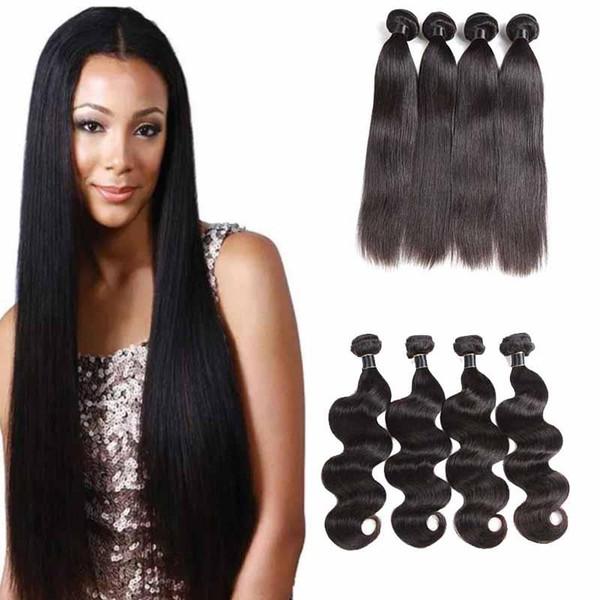 Unprocessed 9a Malaysian Virgin Human Hair Weaves Straight