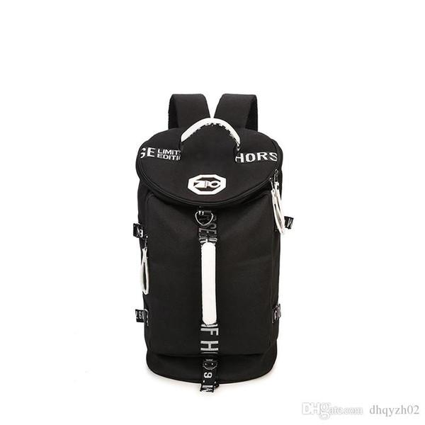مصمم جديد الأوروبية والأمريكية المشي السفر الرجال الرياضية حقيبة الكتف على الكتف قماش طبل حقيبة حقيبة جهاز كمبيوتر