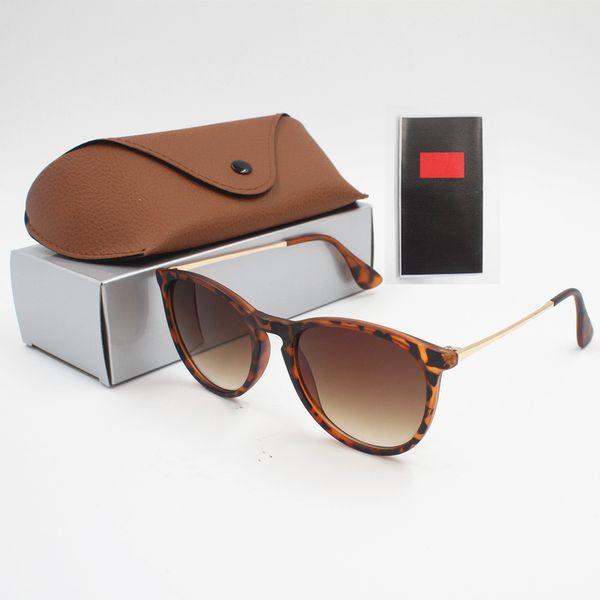 top popular 1pcs Fashion Round Sunglasses Eyewear Sun Glasses Designer Brand Black Metal Frame Dark 50mm Glass Lenses For Mens Womens Better Brown Cases 2019