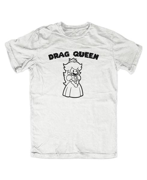 Drag Queen T-Shirt Gamer Fun Konsole Super Mario Luigi Yoshi Retro Koopa Gay Mens 2018 fashion Brand T Shirt O-Neck