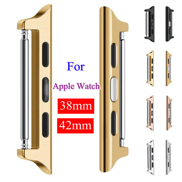 best selling Stainless Steel ear connector adapter for apple watches series 1 2 3 38mm 42mm connection adaptor iwatch Watchbands Accessories