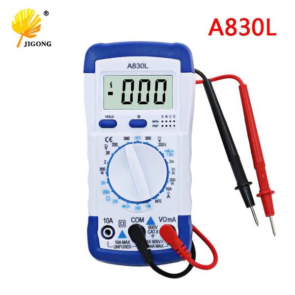 Instruments électriques Multimètres A830L Multimètre numérique LCD Tension alternative Diode Freguency Multitester Volt Testeur Test de courant