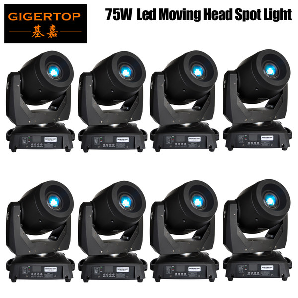 best selling Discount Price 8 Pack 75W LED Spot Moving Head Lights DMX512 Control USA Luminus Led Moving Head Gobo Prism Function Electronic Focus Zoom