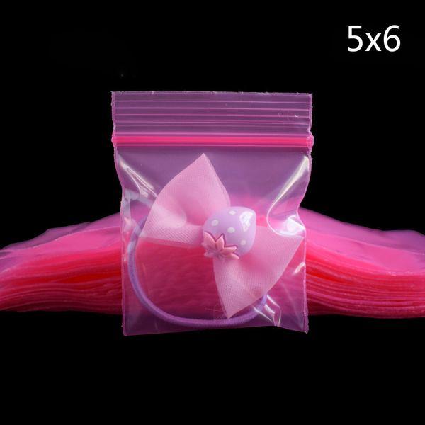 100 Pcs/pack Multiple Patterns Mini Zip Lock Baggies Plastic Packaging Bags Small Plastic Zipper Bag Ziplock Packing Storage Bags
