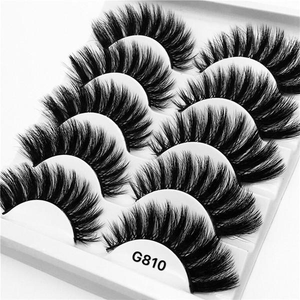5 Pairs False Eyelash Mink Hair Natural 3D Roll Long Extension Makeup Handmade