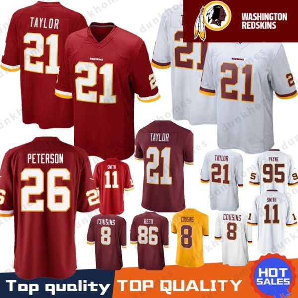 1111f93d9 26 Adrian Peterson Washington Redskins Stitched Jersey 21 Sean Taylor 11  Alex Smith 72 Eric Fisher 86 Reed 8 Kirk Cousins 29 Guice 95 Payne