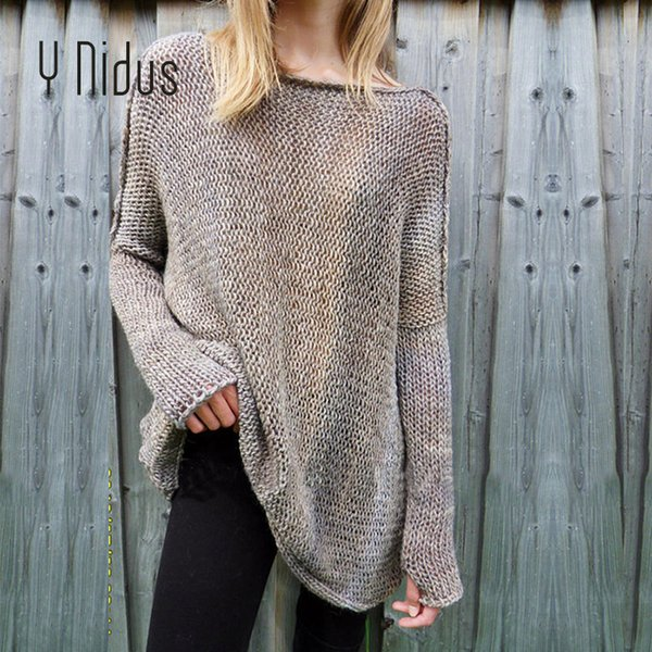 women pullovers winter warm turtleneck sweater female long full sleeve loose crochet knit jumper with half glove pullover roupas - from $27.15