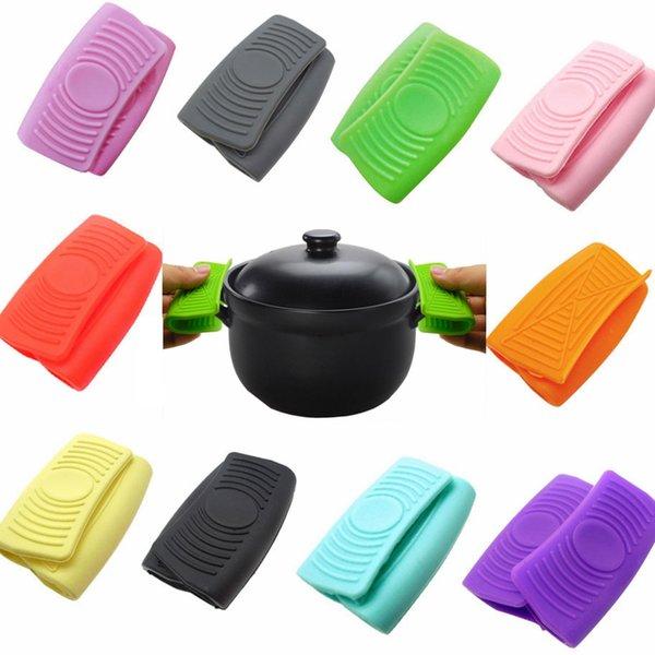 Creative Forno Mini guanti in silicone resistente al calore anti-scottatura Guanti per la cottura a pinza Pot Holders casa Kitche Presine TTA2022