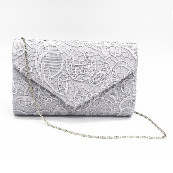 BiPtyDam Elegant Designer Women Envelope Clutches Flap Pochette Soiree Lace Crochet Handbag Fashion Evening Bags Party Wallets #375797