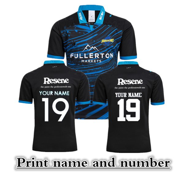2018 hurricanes super rugby training jersey New Zealand Highlanders rugby jerseys blue chiefs shirts size S-3XL (can print)