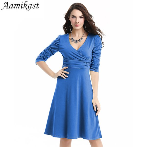 2019 Aamikast Women Dress New Patterns Plus Size Clothing Audrey Hepburn  Black Robe Retro Swing Casual 50s Vintage Rockabilly Dresses J190507 From  ...