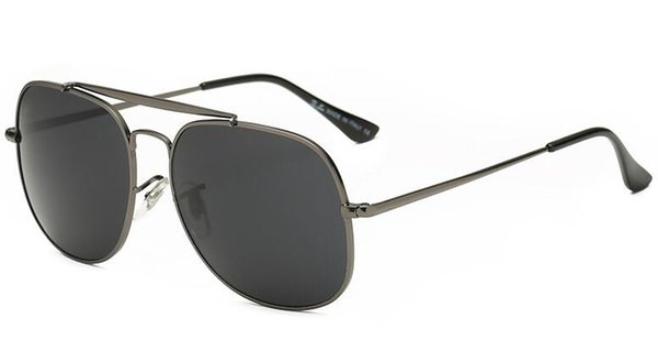 1pcs Excellent Quality 3561 Sunglasses for Men Brand Designer Sun glasses Big Size 57mm Metal Gold Frame Black Glass Lenses With Box,Case