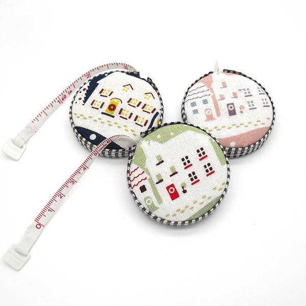 best selling 150cm 60inch Tape Measure Portable Retractable Ruler Fabric Covered Measuring Tape Sewing Tools Creative Gifts WB296