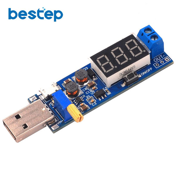 DC-DC 5V to 3.5V / 12V USB Step UP Power Supply Module Adjustable Boost Buck Converter Out DC 1.2V-24V