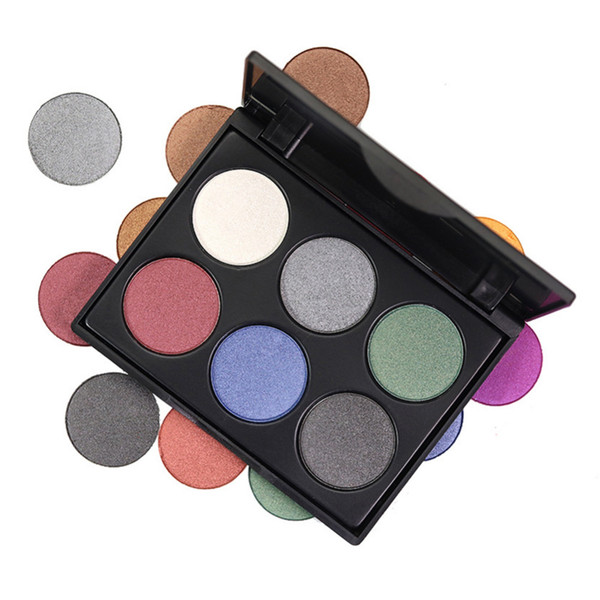 Wholesale DHL 6 Colors Shimmer Matte Eyeshadow Palette Waterproof Long Lasting Warm Pink Purple Green Natural Fashion Eye Shadow Powder Tray