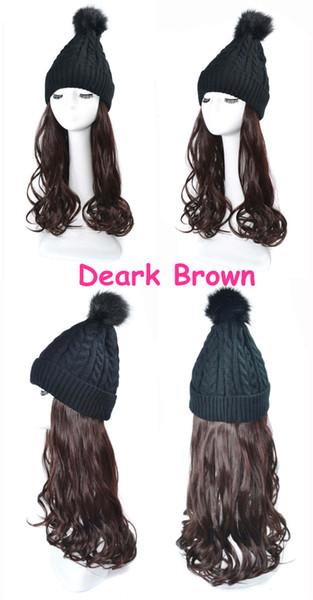 Black wig Dark brown Wave Hair