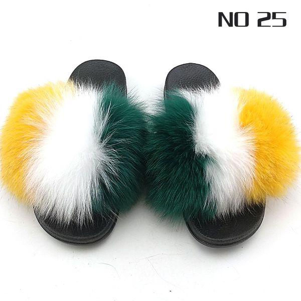 New Arriver Donna Primavera Estate Vera Pelliccia di volpe Pantofole in piuma Logo personalizzato Accetta Open Toe Single Strap Slip On Sandali