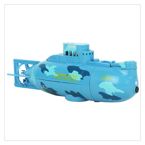 Mini RC Submarine Ship 6CH High Speed Radio Remote Control Boat Model Electric Kids Toy Exercise Mental Ability