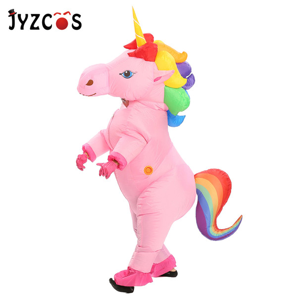 ovie & TV costumes JYZCOS Unicorn Inflatable for Adult Kid Halloween Party Costume Carnival Mascot Costume Purim Christmas Cosplay C...