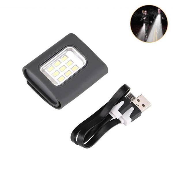 открытый Странная Блик светодиодная вспышка USB зарядка Cap Клип свет Walking Беговые Ходьба безопасности идущий