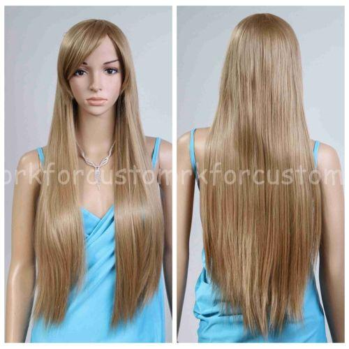 Wholesale price Hot Sell TSC^^^^^^^^New Women Long Wigs straight Cosplay Party Wig Full Blonde Grey Fashion Hair