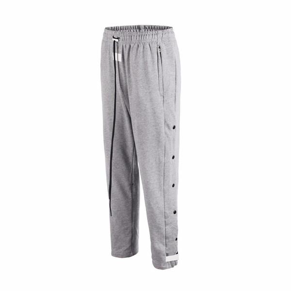 Hot trendy fashion Streetwear Side snap Button drawstring track sweatpants hip hop justin bieber kanye west men's track pants