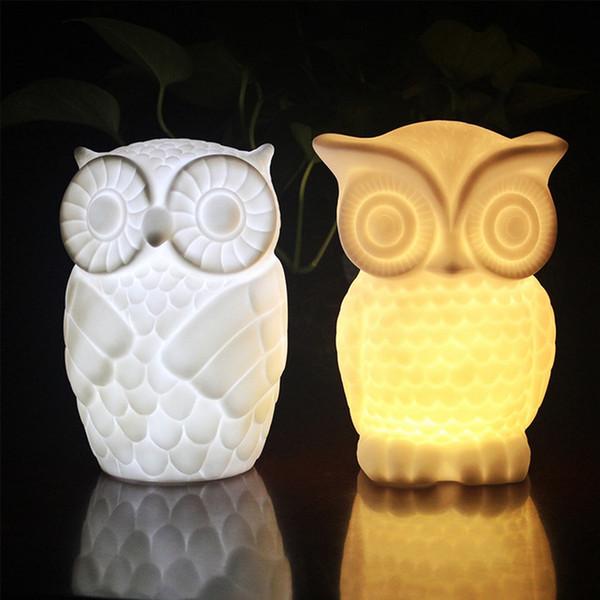 Creative owl led night light nueva lámpara de mesita de noche extraña productos electrónicos para el hogar personalización de regalos Luces Iluminación