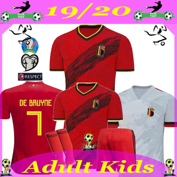 Belgique 2019 2020 maison loin Lukaku RISQUE DE BRUYNE KOMPANY MERTENS Soccer Jersey 19 20 homme adulte et enfants maillot de football de sport kit