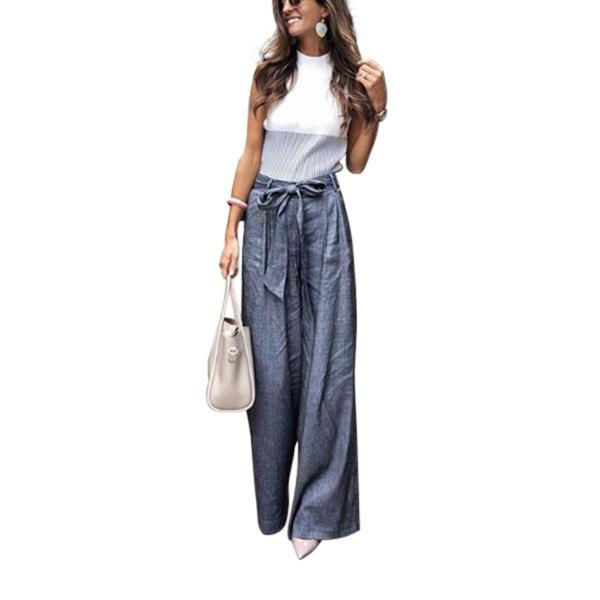 Easy Leisure Time Trousers Wide Leg Pants
