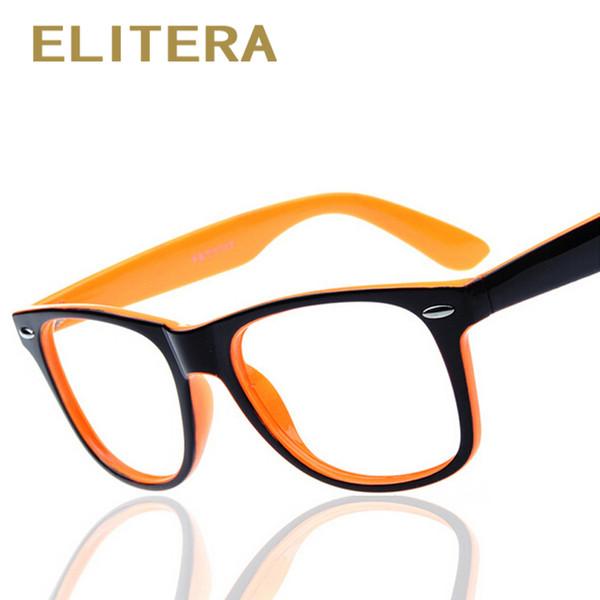 ELITERA fashion big glass frame without lenses round eye glasses frame for women and men oculos de grau