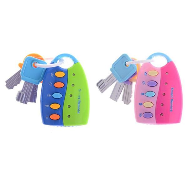 simulation de bébé à distance de voiture Key Lock enfants de jouets musicaux clés de voiture son intelligente à distance de voiture Voix Jeux de rôles Jouets éducatifs GGA3127-6