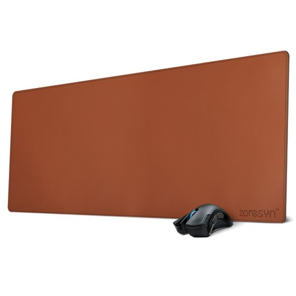 2019 Zoresyn Large Leather Mouse Pad 90*40 CM Artificial Desk Mat Extended  Desk Pad & Mate For Office,Household,Gaming Brown From Cupkiko, $34 97 |