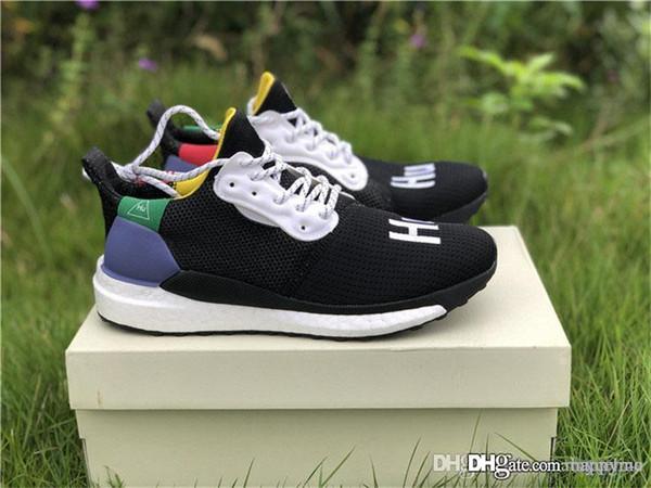 2e71d343a 2018 New Release Pharrell Williams Solar Hu Glide Hu Trail Human Race Man  Running Shoes Authentic