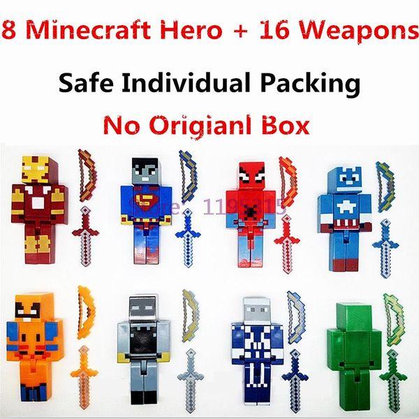 Figures Toys Game Brinquedo Marvel Avengers Super Hero Justice League Building Blocks Action Toys For Children #E