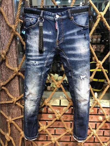 HOT marque de la mode européenne et des jeans pour hommes occasionnels américains lavage de haute qualité, de broyage main pur, l'optimisation qualité A226