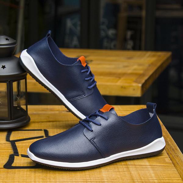 Hot Sale- Sreathable Microfiber Leather Men's Casual Shoes Business Men Shoes Pure Color Comfortable Summer Fashion Shoes