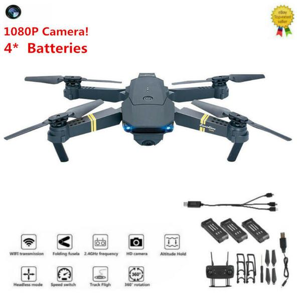 Drone x pro 1080P HD Camera Wifi APP FPV Foldable Wide-Angle 4* Batteries