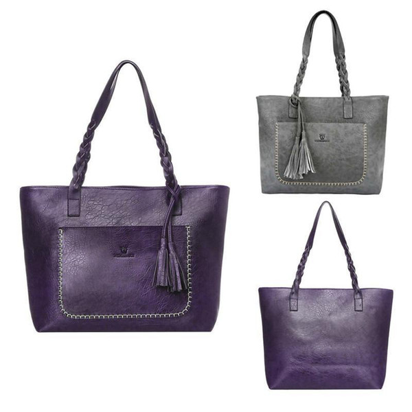 OCARDIAN Nice Womens Leather Tassels Handbag Shoulder Messenger Bag Lady Satchel Tote Bags #0207